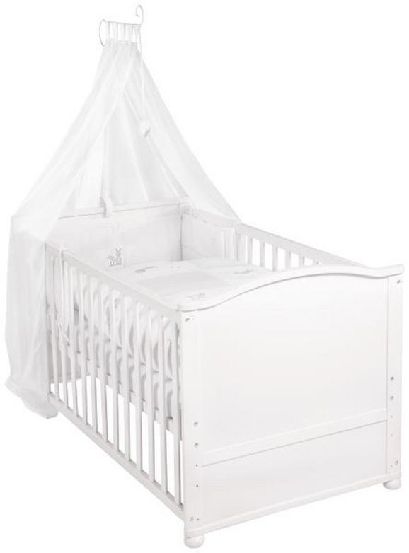 Gitterbett in Weiß, ca. 70x140cm - Weiß, Holz (80/152/153cm) - Modern Living