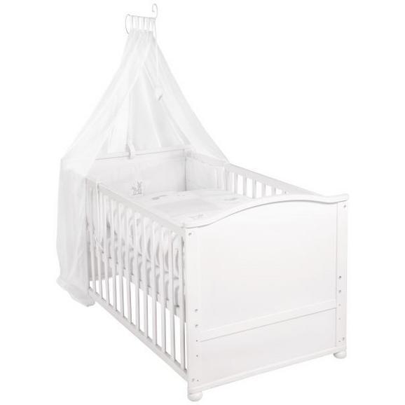 Gitterbett in Weiß ca. 70x140cm - Weiß, Holz (80/152/153cm) - Modern Living