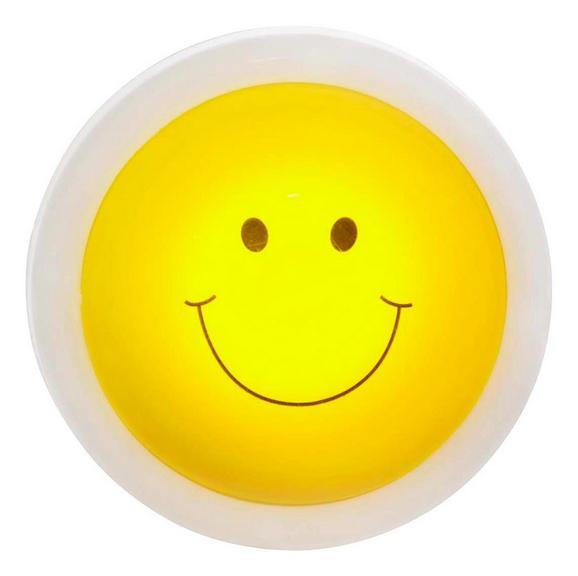 Nachtlicht Smiley, max. 0,06 Watt - Gelb/Weiß, Kunststoff (10/4,3cm)