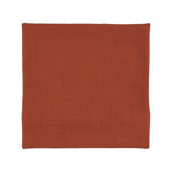 Prevleka Blazine Leinenoptik - oranžna, Konvencionalno, tekstil (40/40cm) - Mömax modern living