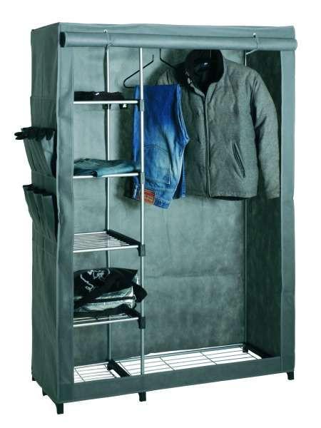 Garderobe Alu/grün - Grau, Kunststoff/Metall (116/173/50cm) - Mömax modern living
