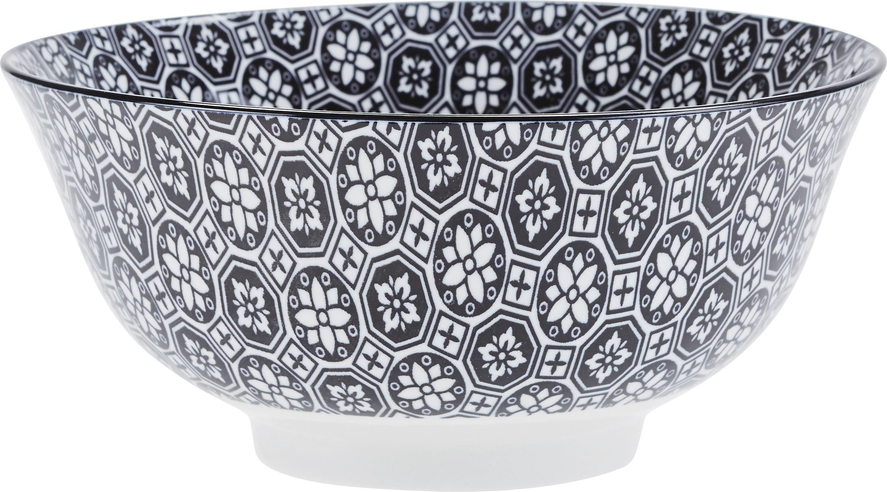 Skodelica Za Kosmiče Shiva - črna/bela, Trendi, keramika (15,5/7,5cm) - MÖMAX modern living