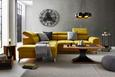 Sedežna Garnitura Monk - turkizna/rumena, Konvencionalno, kovina/tekstil (222-271/80-101/113cm) - Modern Living