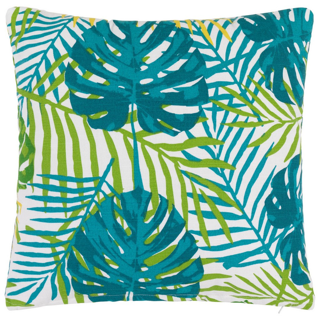 Zierkissen Green Leaf, ca. 40x40cm