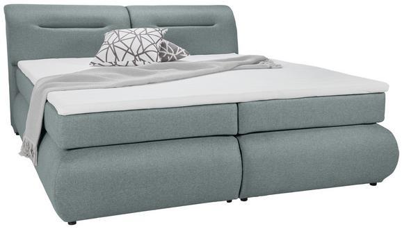 Boxspringbett Mintgrün ca.160x200cm - Schwarz/Mintgrün, Kunststoff/Textil (240/170/100cm) - Premium Living