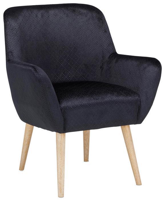Fotelj Viborg -trend- - naravna/črna, Moderno, tekstil/les (67,5/79/67,5cm) - MÖMAX modern living