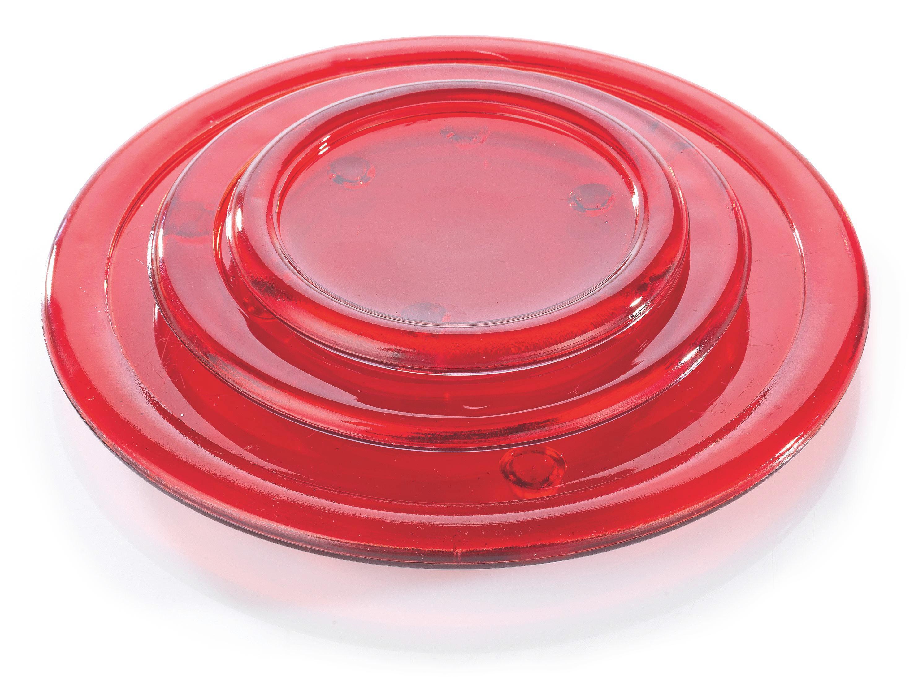 Podstavek Za Svečo Evelyn - lila/rdeča, Konvencionalno, steklo (13cm) - MÖMAX modern living