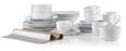 Kaffeetasse mit Untertasse Adria aus Porzellan ca. 220ml - Weiß, KONVENTIONELL, Keramik (15,8cm) - Mömax modern living