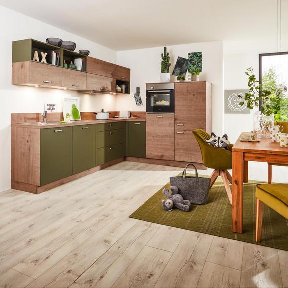 Eckküche in Olive und Steineiche online bestellen