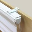 Rolo Za Pritrjevanje Klemm Light - bela, Moderno, kovina/tekstil (120/160cm) - Mömax modern living