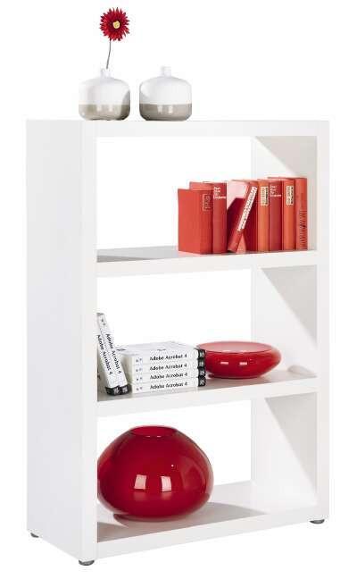 Regal in Weiß lackiert - Alufarben/Weiß, Holzwerkstoff/Kunststoff (83/124/35cm) - MÖMAX modern living