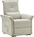 Relaxsessel in Grau mit Aufstehhilfe - Schwarz/Grau, KONVENTIONELL, Kunststoff/Textil (87/78-110/90-166cm) - Modern Living
