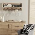 Raft De Perete Carter - culoare natur/negru, Lifestyle, lemn/metal (80/30/18cm) - Modern Living