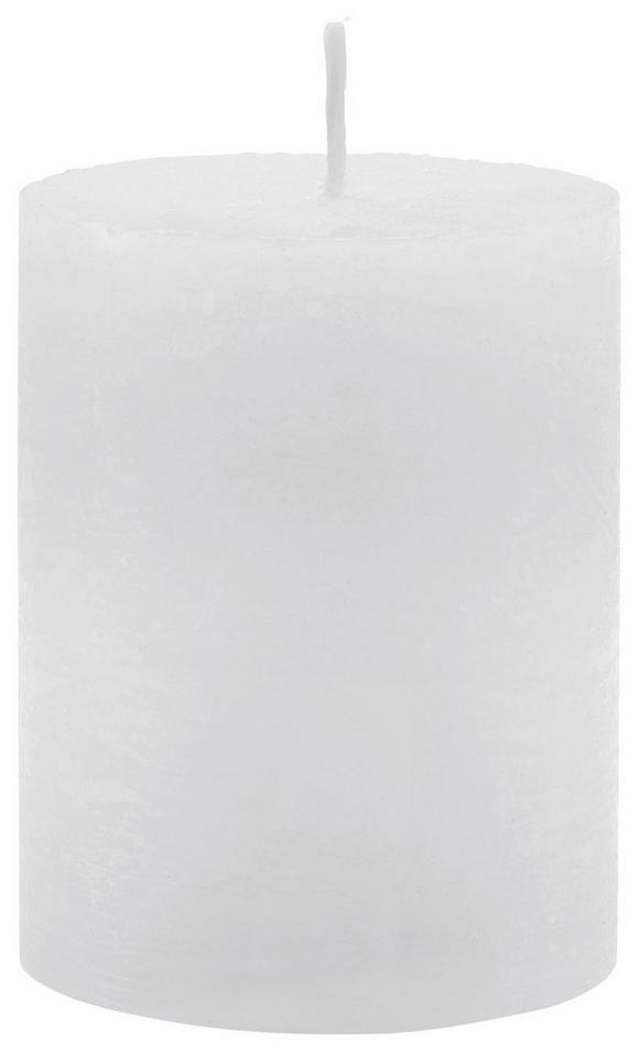 Stumpenkerze Lia Weiß - Weiß, MODERN (6,8/9cm) - Mömax modern living