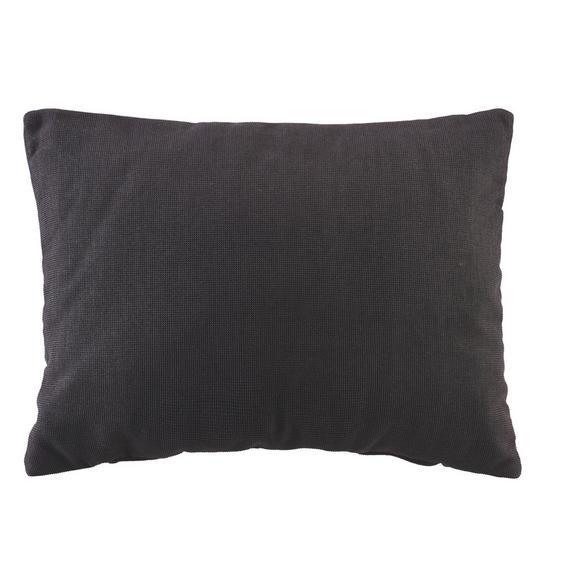Zierkissen Sanfino in Schwarz ca. 55x40cm - Schwarz, MODERN, Textil (55/40cm) - Premium Living