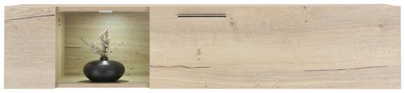 Hängeelement in verschiedenen Farben - Eichefarben/Weiß, MODERN, Holzwerkstoff/Metall (144/35/38cm) - PREMIUM LIVING