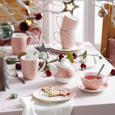 Kaffeebecher Lovelyn Rosa/Weiß - Goldfarben/Rosa, Keramik (8,5/10,1cm) - Mömax modern living