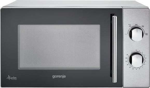 Gorenje Mikrowelle - Edelstahlfarben, KONVENTIONELL, Glas/Metall (43,9/25,7/36cm) - GORENJE