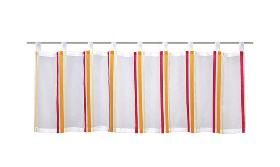 Kurzgardine Charly - Pink/Gelb, Textil (50/145cm) - MÖMAX modern living
