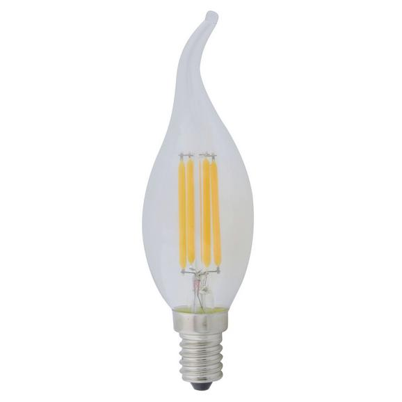 LED-Leuchtmittel 10584, max. 4 Watt - Klar/Silberfarben, Glas/Metall (3,5/11,5cm)