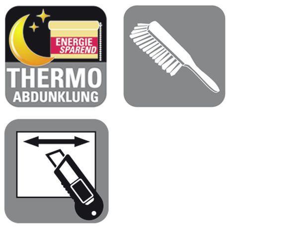 Verdunkelungsrollo Thermo in Weiß, ca. 120x150cm - Weiß, Textil (120/150cm) - MÖMAX modern living
