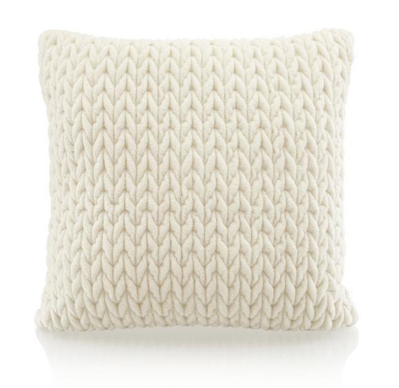 Zierkissen Heidi in Weiß, ca. 45x45cm - Weiß, ROMANTIK / LANDHAUS, Textil (45/45cm) - MÖMAX modern living