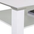 Couchtisch Weiß Hochglanz - Weiß, MODERN, Holzwerkstoff (110/41/75cm) - Mömax modern living