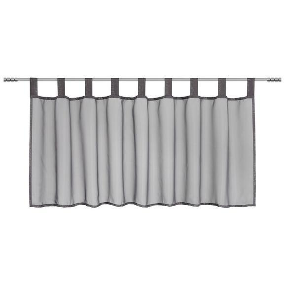 Perdea Scurtă Hanna - antracit, textil (145/50cm) - Modern Living