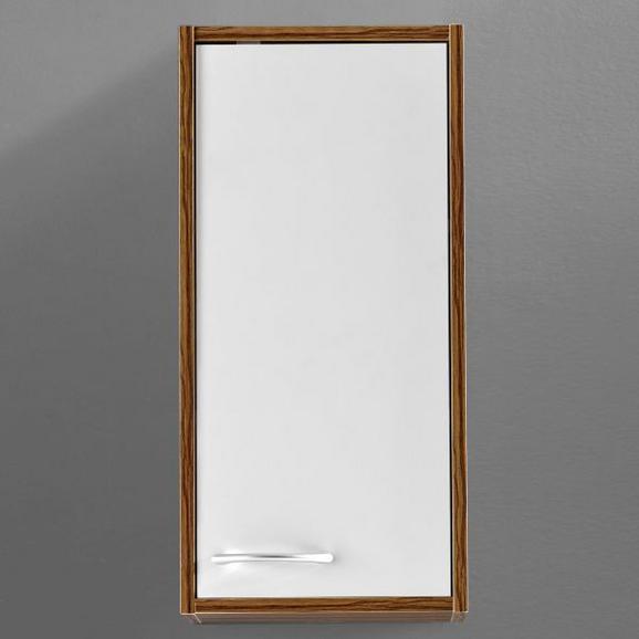 Hängeschrank Milano - Weiß/Kieferfarben, MODERN, Holz/Metall (30/62/19cm) - Mömax modern living