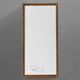 Oberschrank Weiß/Kieferfarben 'Milano' - Weiß/Kieferfarben, MODERN, Holz/Metall (30/62/19cm) - Bessagi Home