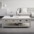 Couchtisch Lewis Vintage ca.120x60cm - Weiß, MODERN, Holz/Metall (120/60/40cm) - Mömax modern living
