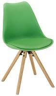 Stuhl in Grün/eichefarben - Eichefarben/Grün, MODERN, Holz/Kunststoff (47/81,5/56cm) - Mömax modern living
