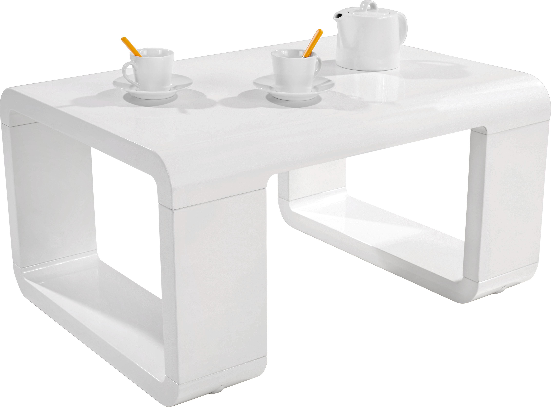 Dohányóasztal Snake - fehér, modern, faanyagok (90/42/60cm)
