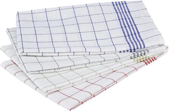 Konyharuha London - piros/kék, textil (50/70cm) - MÖMAX modern living