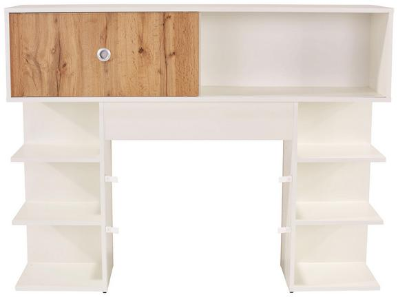 Omara Za Posteljo Azurro 140 - aluminij/bela, Konvencionalno, umetna masa/leseni material (145/111/27cm) - Mömax modern living