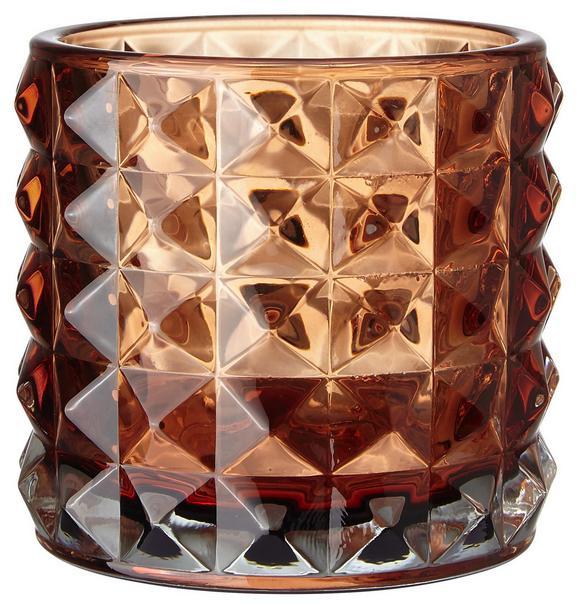 Teelichthalter Jolina Ø ca. 9,8 cm - Orange, MODERN, Glas (9,8/9,8cm) - Mömax modern living