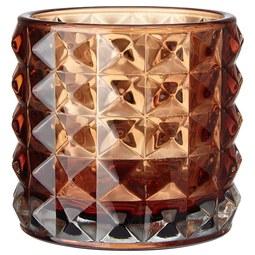 Windlicht Jolina - Braun, MODERN, Glas (9,8/9,8cm) - Mömax modern living
