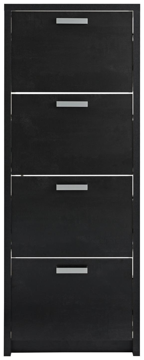 Schuhkipper Schwarz - Schwarz, Holzwerkstoff/Kunststoff (64/164/24cm) - Mömax modern living