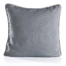 Kissen in Grau 'Harald' ca. 50x50cm - Hellgrau/Grau, Textil (50/50cm) - Bessagi Home
