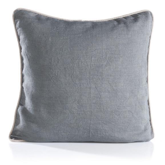 Kissen Stefan ca.40x40cm in Grau - Hellgrau/Grau, Textil (40/40cm) - Bessagi Home