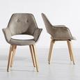 Stuhl Nadia - Buchefarben/Braun, MODERN, Holz/Textil (63/85/60cm) - Mömax modern living