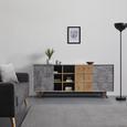 SIDEBOARD in grau 'Casper' - Eichefarben/Grau, MODERN, Holz (180/75/40cm) - Bessagi Home