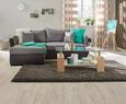Sedežna Garnitura Lugano - siva/črna, Moderno, umetna masa/tekstil (230/167cm) - Based