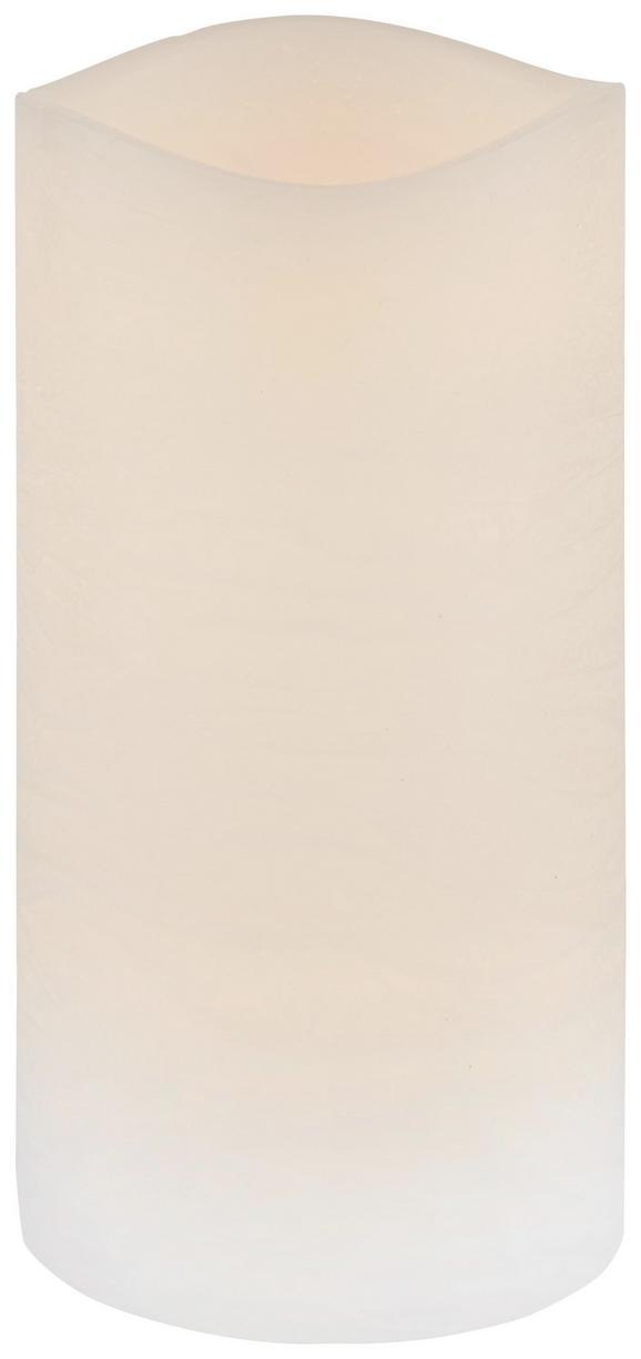 Kerze mit Led Leonie Weiß - Weiß (7,5/14cm) - MÖMAX modern living