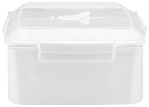 Mikrowellendose Mikka in Weiß, ca. 2470ml - Transparent/Weiß, Kunststoff (2,47l) - MÖMAX modern living