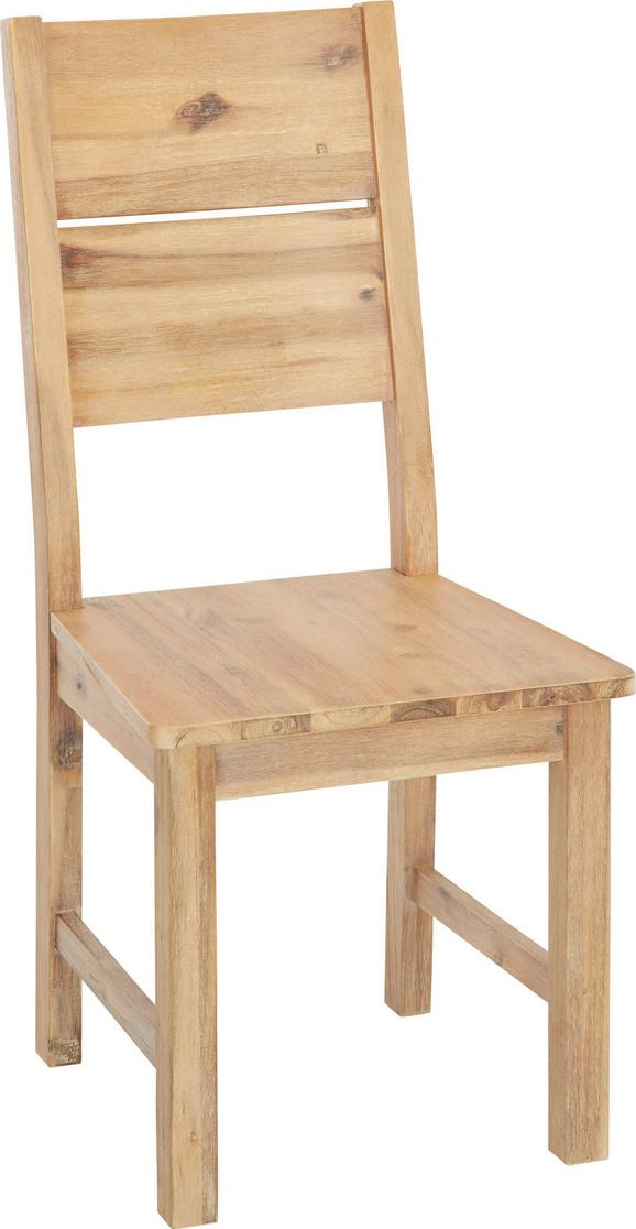 Stuhl Akazie Massiv - Akaziefarben, KONVENTIONELL, Holz (46/100/55cm) - Zandiara