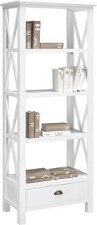Bücherregal Claudia - Weiß, Holz/Metall (70/180/40cm) - premium living