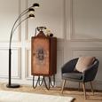 Fotelja Bea -exlusiv- - tamno siva/prirodne boje, Design, tekstil (75/77/45/66cm) - Mömax modern living