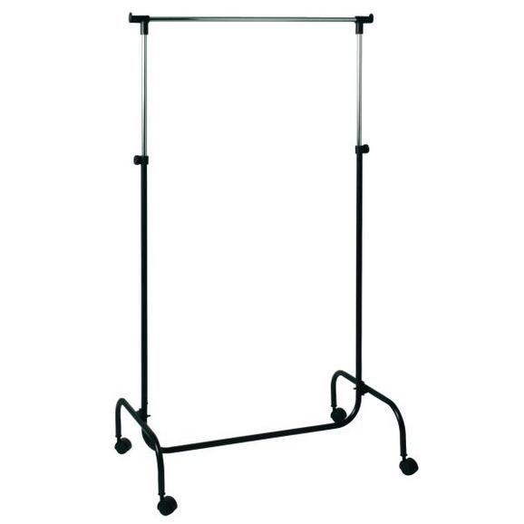 Cuier 'charly' - culoare crom/negru, Modern, plastic/metal (80/110-170/45cm)