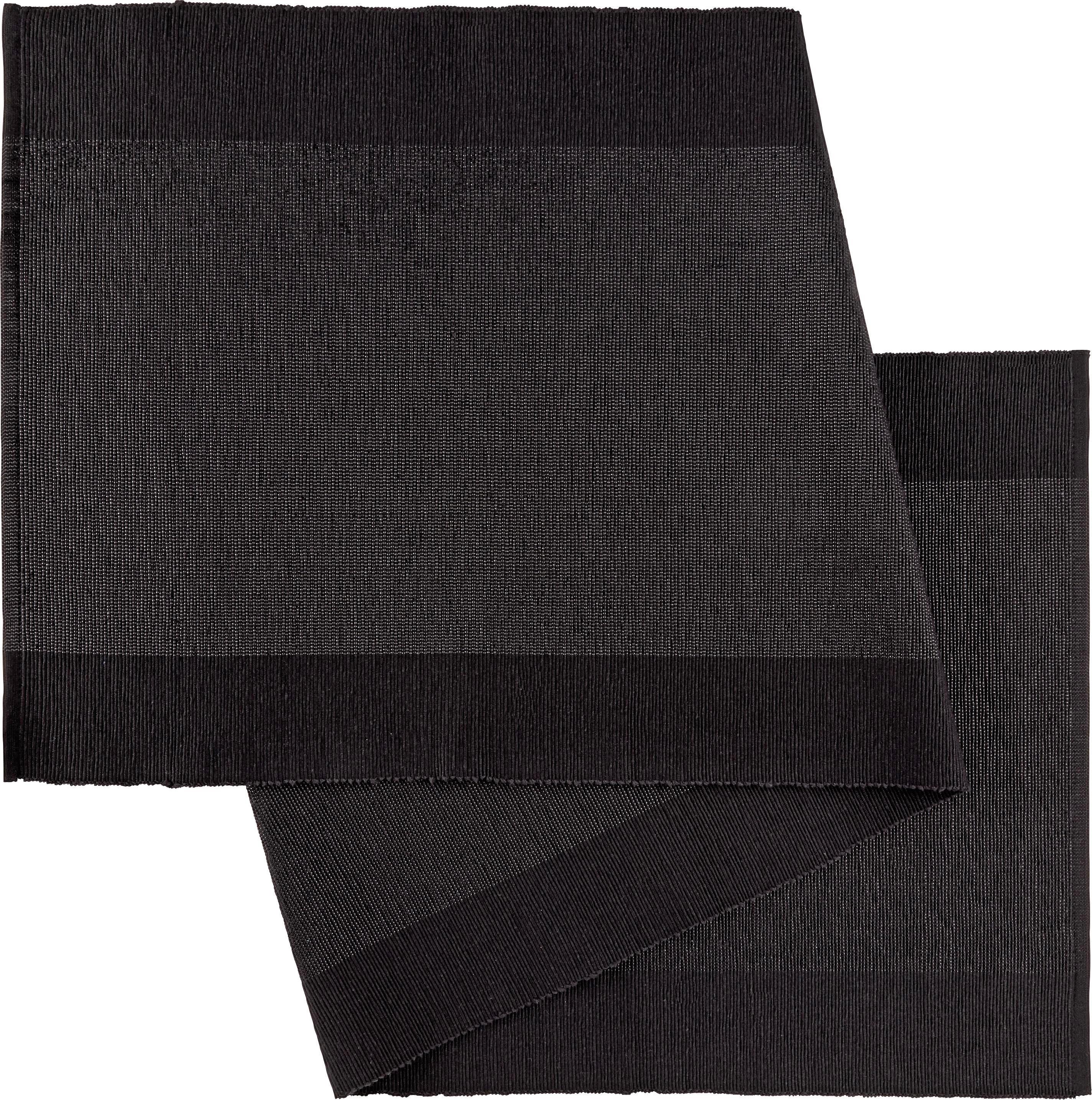 Tischläufer Brando in Schwarz - Schwarz, LIFESTYLE, Textil (45/150cm)